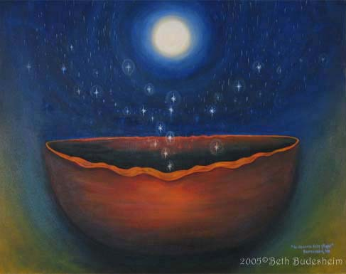 shaman's bowl visionary painting