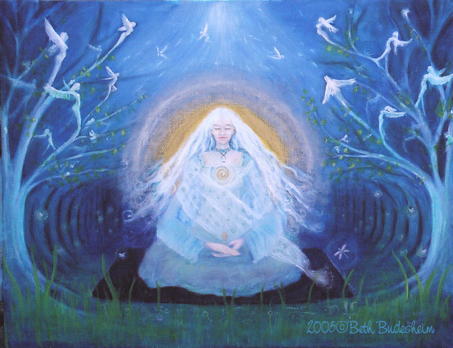 Light of being, goddess painting